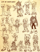 Sonic Anatomy: Poses and Characters by mARTz-9o
