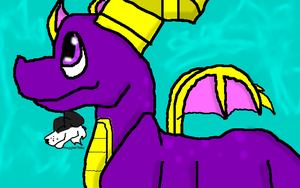 Spyro wants to say Hai! by MaggienToby