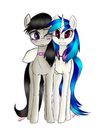 Octavia and Vinyl - [collab/gift] by Speed-Chaser