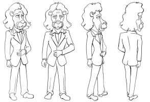 Albert Einstein Lion turnaround by Joe5art