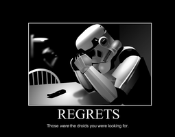 Star Wars Regrets Poster by GGRock70
