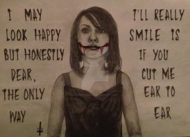 Drawing Of Lyrics From Chelsea Smile - BMTH by bewitchedgirl