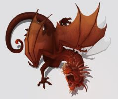 Dragon, in Red by HanMonster