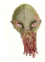Ood head from Doctor Who by RhiannaIsMyName