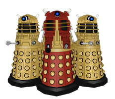 Dalek Trio Infernale by BlackySmith