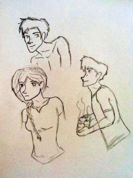 The Hunger Games Sketches by Astridhofferman