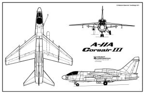 Vought A-11A Corsair III plan by Bispro