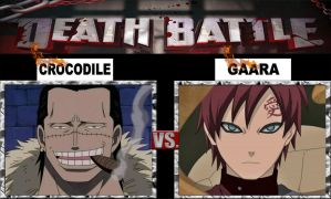 Crocodile vs Gaara - Death Battle by rubenimus21
