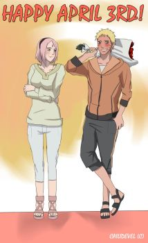 April 3rd Narusaku by CaiLiDeVeL