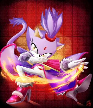Blaze the Cat by Daughter-of-Fantasy