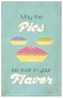 Hunger Games: May the Pies be ever in your Flavor by eskimochateau