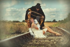 The Train Journey - Damsel in Distress by PhilJonesPhotography