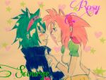 Rosy x Scourge human by Dinamitad