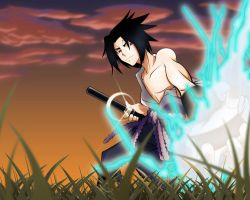 Sasuke Fan Art - Colored by HellGab