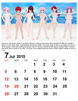 July 2015 Calendar by quamp