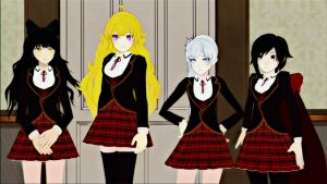 RWBY: School Outfits by TheLegend831