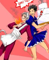 PHOENIX WRIGHT x COOKING MAMA by Zairal