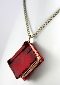 Beloved Red Book Necklace by NeverlandJewelry
