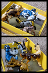 Box 'O Critters - Sculpture Group by WildSpiritWolf