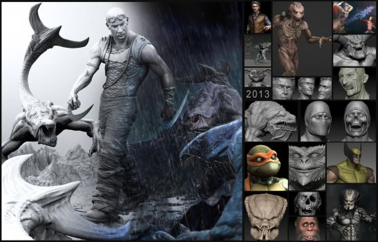My 2013 Artwork Collage by FoxHound1984