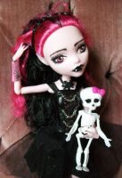 Monster High Custom Gothic Draculaura Remake OOAK by AdeCiroDesigns