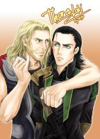 Thor and Loki by doctorhojo