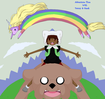 Adventure Time with Danny and Steak by MisaMisaCupcake