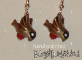 The Robins - earrings by nekojindesigns