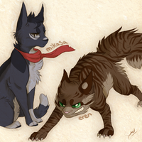 SnKitties // Eren and Mikasa by Sevech