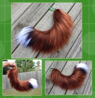 16 inch Realistic Fox yarn tail - COMMISSION by Black-Heart-Always