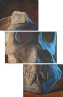 Gorilla gorilla Triptych by PaintingPiper