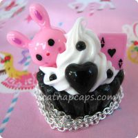 Wonderland Cupcake Necklace by CatNapCaps