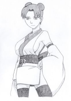 Tenten a new clothing design by TheIllusiveMan90
