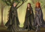 Cathene, Princess Theia and Azira by fanfictionaxis