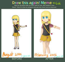 DRAW THIS AGAIN MEME by Fluoritos