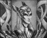 Queen Ayrenn BW by weapon-S