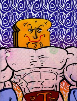 Powdered Toastman daily sketchbook challenge by exspasticcomics