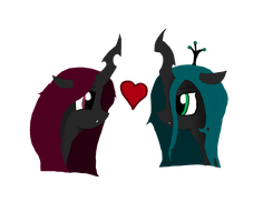 Chrysalis x Princess Amethyst by Sprocket-Pod