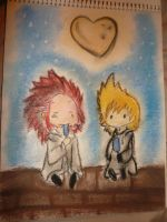 KH: Axel and Roxas by Arrow-Piyo