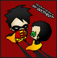Tim and Damian by drwarumono