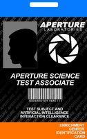 Aperture Science ID Card by incongruousinquiry