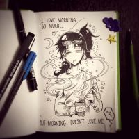 Love and hate mornings  by LeeHey