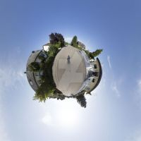 ghostly photographer on his little planet by deryoshi