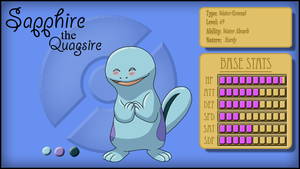 Sapphire the Quagsire (ref) by PancakeShiners