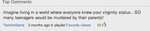 Of course it was THIS comment that had THIS number by AYF100