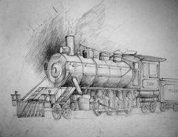 Steam Locomotive pencil by Kozzie001