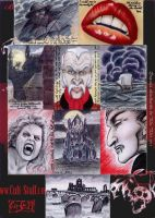 Dracula sketchcards by whu-wei