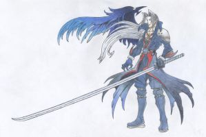 Sephiroth colored by Andrex91