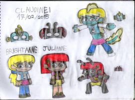 New Combo Ninos OCs: Brightanne and Julianne by claudinei230