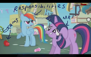 MLP + exams = meme. by StormtailChainedSoul